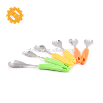 vente chaude de haute qualité en acier inoxydable salade fruits cuillère et une fourchette ensemble
