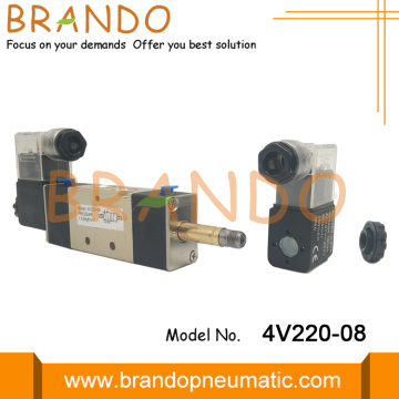 4V220-08 Double Coil Control Control Solenoid Air