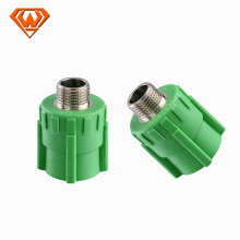 Green color PPR Pipe Male Thread Socket