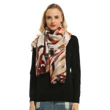 Moda feminina de algodão macio voile Impresso Viscose fantasia hijab senhora xadrez lenço