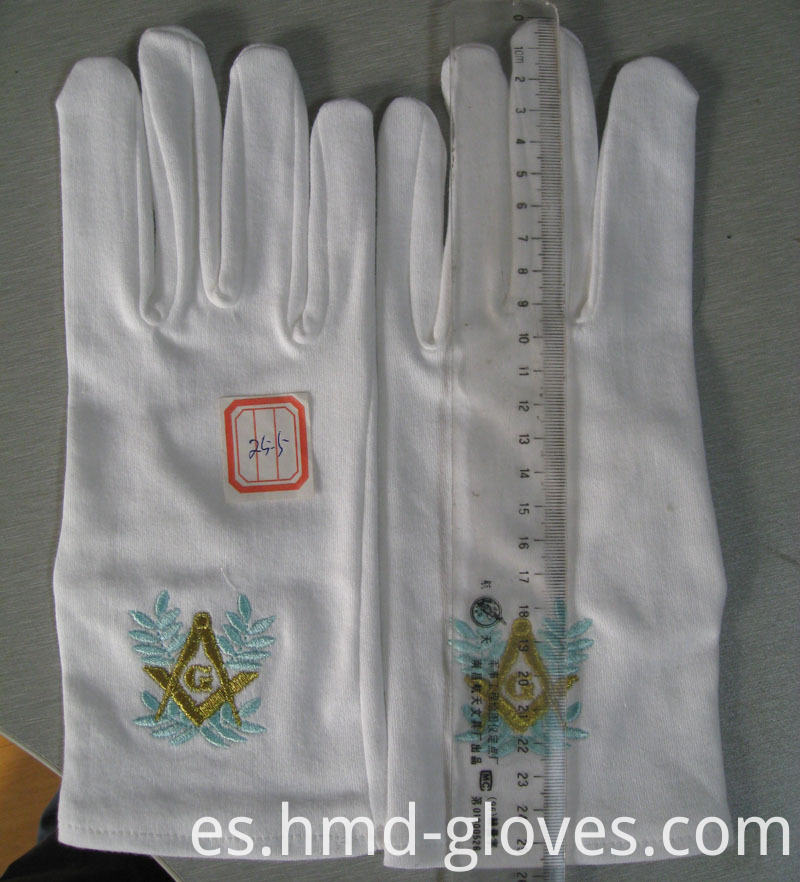 Embroidery Cotton Gloves