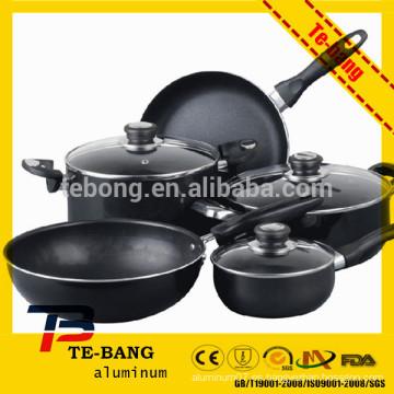 2015 Fácil de cocinar limpia die cast aluminio utensilios de cocina con muchos tipos de tipos