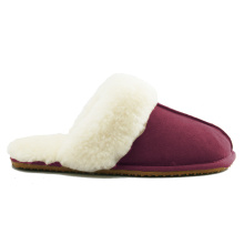 Good Quality for Ladies Black Sheepskin Slippers customized women comfy memory foam indoor sheepskin slippers export to Jordan Exporter