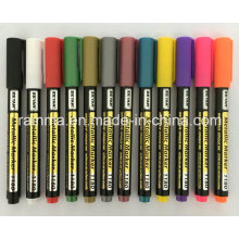 Marcador de tinta de cor metálica com cor de variedade