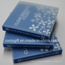 Kundenspezifisches Drucken Klare Kunststoff PP PVC Lesezeichen Halter / Album Buch