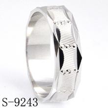 Hot-Selling 925 Silverjewelry Anillo de los hombres de la resina sin CZ
