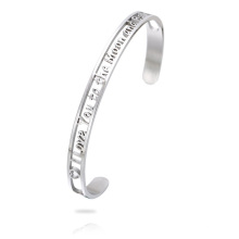 6MM I love you the moon hollow-carved design cuff bracelet Bangle