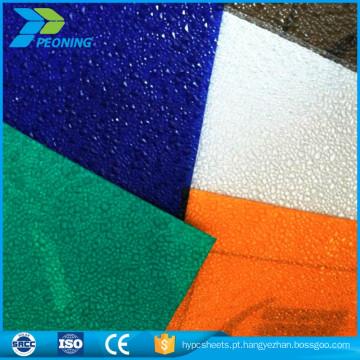 Folha de cobertura de policarbonato transparente transparente