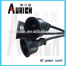 UL Standrad Popular PVC cabos cabo de alimentação 125V