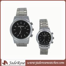 Legierungs-Uhr-Quarz-Uhr-Paar-Geschäfts-Uhr