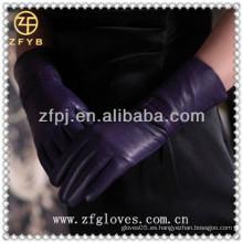 Top piel de oveja guantes clásicos para señora