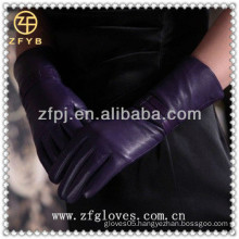 Top sheep skin classical gloves for lady