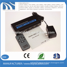 High quality 4-Port HDMI Switcher 4X1 selector support 3D 4K*2K