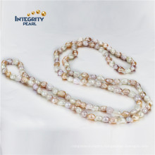 Baroque Pearl Necklaces AA 7-8mm 47 Inches China Pearl Necklace