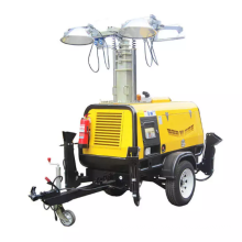 Lighting Tower Powered by Genset