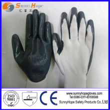 nylon liner nitrile palm dipped gloves