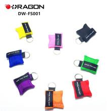 DW-FS001 boca a boca kit de primeros auxilios desechable mini CPR llave de la vida / cpr llave máscara