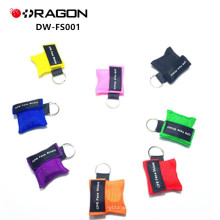 DW-FS001 boca a boca kit de primeiros socorros descartável mini CPR chave de vida / chave máscara cpr