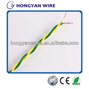 electrical wires PVC Insulation Flexible twisted wire with good quality