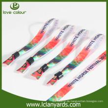 Polyester Wärmeübertragung gedruckt Satin Armband mit Kunststoff-Clip