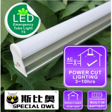 Lampe LED d'urgence T5: 16W / 1.2m, 13W / 0.9m, 9W / 0.6m Rechargeable avec batterie de secours