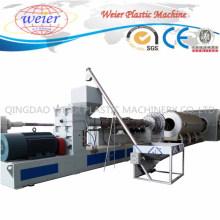 Chaîne de production de machine en plastique d'extrudeuse pour le tuyau d'isolation thermique
