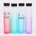 garrafa de água de garrafa de vidro fosco colorido portátil