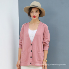 Lady′s Cardigan 100% Cashmere Sweater, Winter Clothing Coat