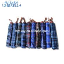 """24 """"Polyester Check Umbrella Werbeartikel"""