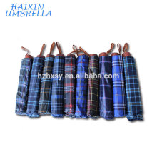 "24"" Polyester Check Umbrella Promotional"