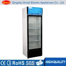 Стеклянные двери Вертикальный дисплей Холодильник Морозильная витрина
