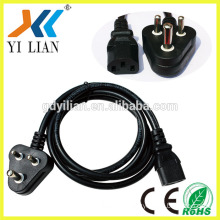 south africa 3 pin plug 250V power cord appliance power cord ac power cord with switch