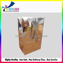 Silver Paper Bag Kraft Paper Bag with PP Rope