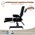 Section Adjustable Tattoo Chair Quality Leather Black Medical Table Factory Price Facial Massage Bed