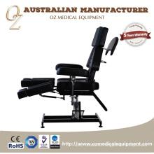 Sección ajustable de la silla del tatuaje Calidad de cuero negro Mesa médica Precio de fábrica Cama de masaje facial