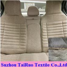 100% poliéster linho para tecido de assento de carro