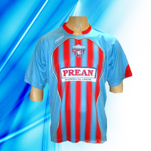 100% Polyester Man′s Short Sleeve Soccer Jersey
