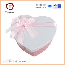 Caixa de embalagem e embalagem de presente de coração encantadora