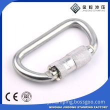 Hot sale! high quality! steel split key ring carabiner