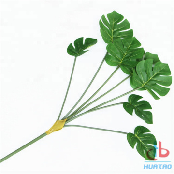 Artificial Green Monstera Leaves