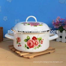 high quality enamel strait pot mixing with glass