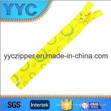 5 # C / E Nylon Zipper Fermeture décorative imprimée