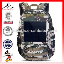 Camouflage Backpack Solar Powered Bag 6.5W Solar Panel(ES-H032)