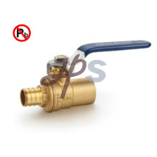 Lead free brass pex and solder ball valve