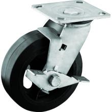 Tugas Berat 6 inci dengan Cakera PU Brek untuk Trolleys