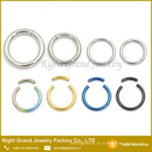 14G 316L Chirurgenstahl Segment Ring Ohrring Knorpel Labret Septum