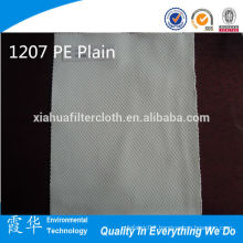 1207 PE plain woven polyeste/dacron filter cloth for mineral water