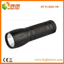 Factory Bulk Sale Black Aluminum Alloy Material 1watt Small Powerful led torch Light with 3*AAA battery