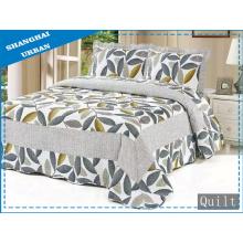 Bettwäsche Bettbezug aus 100% Baumwolle mit Blattdruck (Steppdecke)