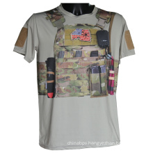Tactical Camo Sport T-Shirt Military Short Sleeve Python T-Shirt